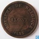 België 5 centimes 1833 Monnaie Fictive, Aalst