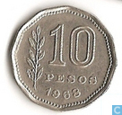 Argentine 10 pesos 1968