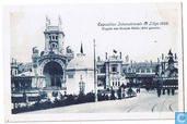 Exposition Internationale de Liège 1905.  Façade des Grands Halls (Aile gauche)