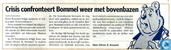 20091012 Crisis confronteert Bommel weer met bovenbazen