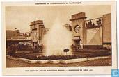 Centenaire de L'Indépendance de la Belgique - Une Fontaine et les Ministères Belges - Exposition de Liège 1930