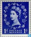 Postage Stamps - Great Britain [GBR] - Queen Elizabeth (Wilding)-graphite lines