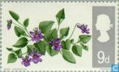 Postage Stamps - Great Britain [GBR] - Flowers-phosphorus