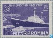 Mise en service de brise-glace atomique URSS