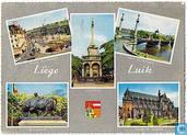 Liège - Place St. Lambert - Pont de Fragnée - Le Taureau - Eglise St. Jacques - Le Perron