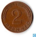 Coins - Germany - Germany 2 pfennig 1977 (D)