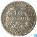 Papal States 10 soldi 1869