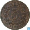 Norvège 5 øre 1878