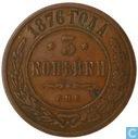 Rusland 3 kopeken 1876 (CPB)