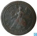 Royaume Uni ½ penny 1724