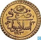 Türkei 1 Tek Altin 1738 (1143-8)