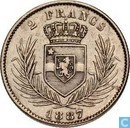 Congo Free State 2 francs 1887