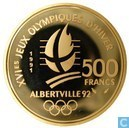 "Frankrijk 500 francs 1991 (PROOF) ""16th Winter Olympics Games in Albertville"""