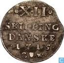 Danemark 12 skilling 1715