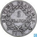 Frankrijk 5 francs 1812 (W)