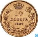Serbie 10 Dinara 1882