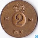 Sweden 2 öre 1961 (U)