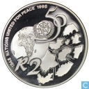 "South Africa 2 rand 1995 ""50 years UN"""