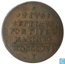 États pontificaux une baioccho 1816 mezzo B