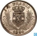 Congo Free State 2 francs 1894