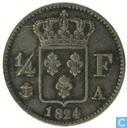 France ¼ franc 1824 (A)