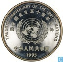 "China 10 yuan 1995 (PROOF) ""50th Anniversary of the United Nations"""