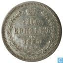 Russia 1867 10 kopeck CIIB