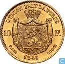 Belgium 10 francs 1849