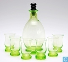 Glass / crystal - Kristalunie - Curro Likeurstel vert-chine