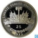 """Haïti 25 gourdes 1973 """"Coupe du Monde 1974"""""""