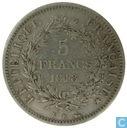 Frankrijk 5 francs 1848 (K)