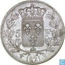 France 5 francs 1821 (W)