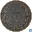 Bulgarie 10 stotinki 1881