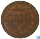 Kirchlichere Staat 1 mezzo Baiocco 1849 R
