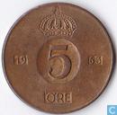 Schweden 5 Öre 1963