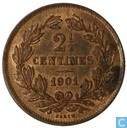 "Luxemburg 2½ centimes 1901 ""BARTH"""