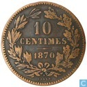 Luxembourg 10 centimes 1870 (à point)