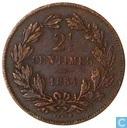 Luxemburg 2,5 Centimes 1854 (mit Serif)