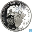 """Gambia 20 dalasis 1995 """"50 years UN"""""""