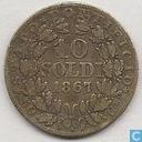 Papal States 10 soldi 1867 (XIIR)