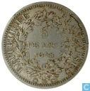 France 5 francs 1848 (BB - Hercules)