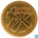 Katanga 5 Francs 1961 (Gold)