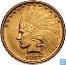 Verenigde Staten 10 dollars 1907 zonder punten