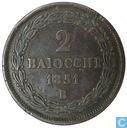 Papal States 2 Baiocchi 1851 B