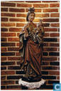 Ellignies-Sainte-Anne - Sainte Anne Trinitaire - Statue en chêne polychrome du XVe siècle
