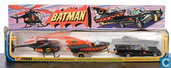 Batmobile, Batcopter & Batboat on trailer