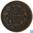 Luxembourg 2.5 centimes 1870 (without dot)