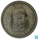 Venezuela 25 centimos 1977
