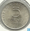 Monnaies - Hongrie - Hongrie 5 forint 1948
