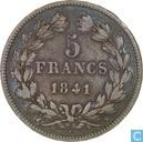 Frankrijk 5 francs 1841 (K)